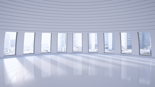 Empty hall in a high-rise building, 3D Renderingのイラスト素材 [FYI04358187]