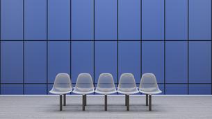Row of seats at underground station platform, 3D Renderingのイラスト素材 [FYI04358191]