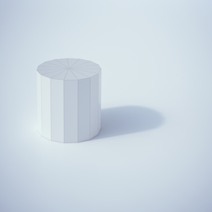Low poly cylinder, 3D Renderingのイラスト素材 [FYI04358325]
