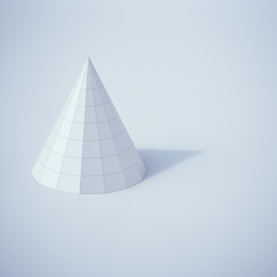 Low poly cone, 3D Renderingのイラスト素材 [FYI04358329]