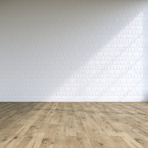 Textured white wall in a loft, 3D Renderingのイラスト素材 [FYI04358486]