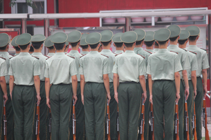 Group Of Army Soldiersの写真素材 [FYI04371692]