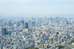Aerial View Of Cityscape Against Clear Skyの写真素材 [FYI04396996]