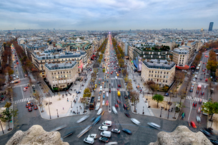 High Angle View Of Paris Cityscapeの写真素材 [FYI04402045]