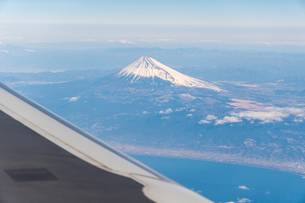 Aerial View Of Landscape And Mountains Against Skyの写真素材 [FYI04406318]