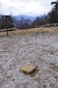 冬の扇山山頂より富士山展望の写真素材 [FYI04413413]