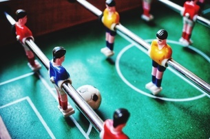 High Angle View Of Foosballの写真素材 [FYI04422569]