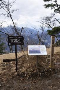 秀麗富嶽十二景 百蔵山より富士山の写真素材 [FYI04425708]