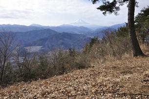 冬の山上からの富士山展望の写真素材 [FYI04426139]
