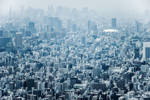 High Angle View Of Modern Buildings In Cityの写真素材 [FYI04453012]