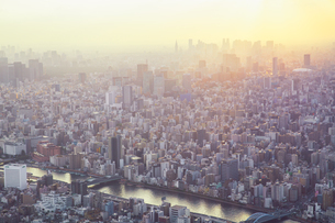 High Angle View Of Modern Buildings In City Against Skyの写真素材 [FYI04453971]