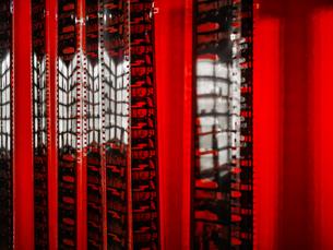 Full Frame Shot Of Red Buildingの写真素材 [FYI04472454]
