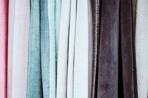 Full Frame Shot Of Multi Colored Fabricsの写真素材 [FYI04475536]