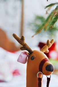 Close-up Of Stuffed Toy At Homeの写真素材 [FYI04476799]