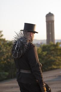 Germany, walking chimney sweepの写真素材 [FYI04481629]