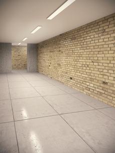 Empty cellar with brick wallsand concrete floor in a schoolのイラスト素材 [FYI04481686]