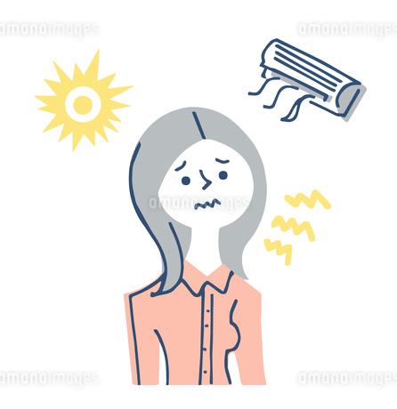 紫外線やエアコンによる肌への刺激のイラスト素材 [FYI04482305]