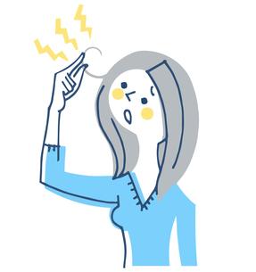 髪の悩み 女性のイラスト素材 [FYI04482310]