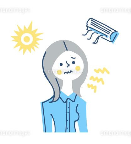 紫外線やエアコンによる肌への刺激のイラスト素材 [FYI04482314]