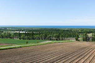 展望台から眺める道東の風景の写真素材 [FYI04482495]