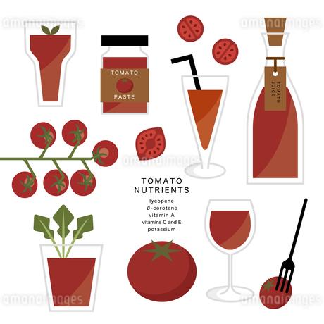 トマトとトマトジュースのイラスト素材 [FYI04482554]