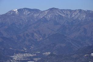 雪の小金沢連嶺を望むの写真素材 [FYI04482884]
