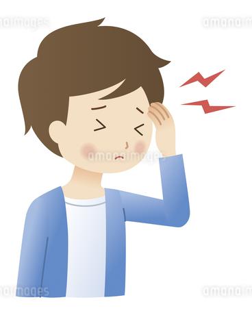 頭痛の男性のイラスト素材 [FYI04483214]