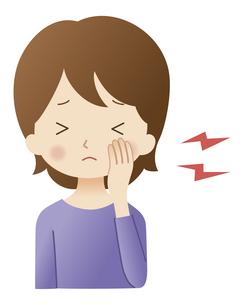 歯痛の女性のイラスト素材 [FYI04483215]