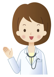 案内する女性の医者のイラスト素材 [FYI04483225]
