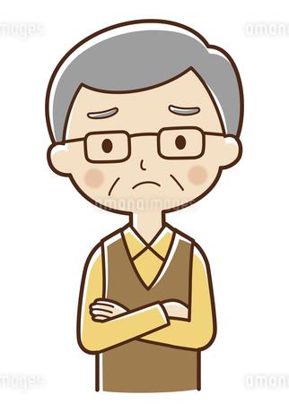 困っているおじいさんのイラスト素材 [FYI04483231]