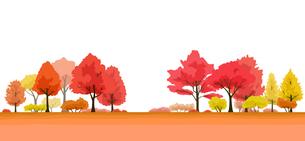紅葉の木 風景イラストのイラスト素材 [FYI04483258]
