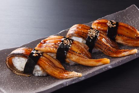 あなごの握り寿司の写真素材 [FYI04483710]