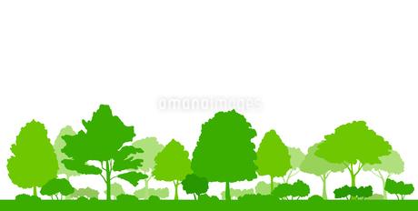 緑の木の風景イラストのイラスト素材 [FYI04483793]