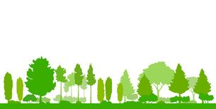 緑の木の風景イラストのイラスト素材 [FYI04483794]