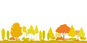 紅葉と黄葉の風景イラストのイラスト素材 [FYI04483796]