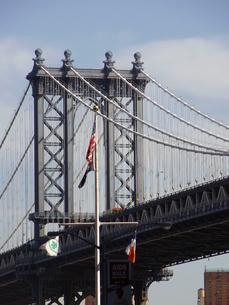 ニューヨークのマンハッタン橋 Manhattan bridge  N.Y.C  U.S.Aの写真素材 [FYI04483925]