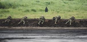 軍事演習を行う歩兵の写真素材 [FYI04483994]