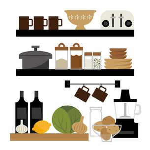 キッチン料理の準備中のイラスト素材 [FYI04484125]