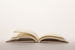 白場に広げられた1冊の本の写真素材 [FYI04484126]