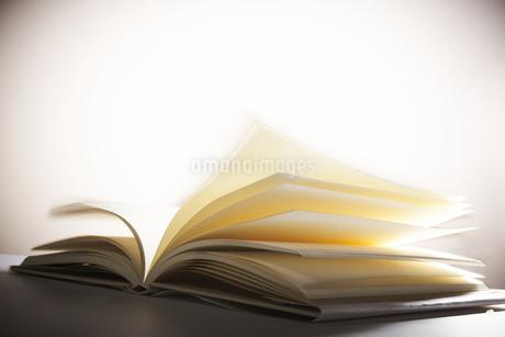 白場に広げられた1冊の本の写真素材 [FYI04484139]