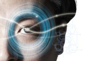 男性の目のアップの写真素材 [FYI04484336]