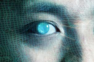 男性の目のアップの写真素材 [FYI04484348]