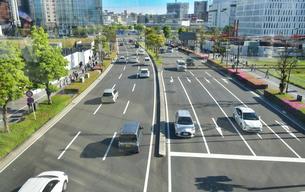 横浜の幹線道路の写真素材 [FYI04484581]