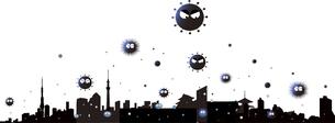 新型ウイルスに感染された都市のイラスト素材 [FYI04484985]