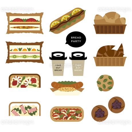 色々な種類のパンのイラスト素材 [FYI04484990]