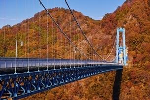 秋の竜神大吊橋の写真素材 [FYI04486040]