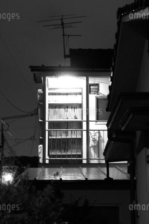 モノクロの建物の写真素材 [FYI04486511]
