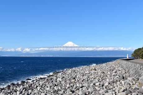 伊豆の戸田から見る富士山の写真素材 [FYI04486626]