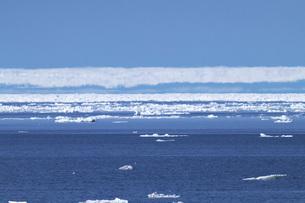 オホーツク海の幻氷と流氷の写真素材 [FYI04486651]