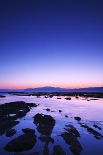 寿都湾の朝の写真素材 [FYI04486677]